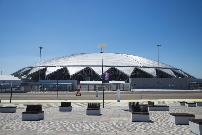Stade de football de Samara Arena Samara - la ville accueillant la coupe du monde de la FIFA en Russie en 2018 image stock