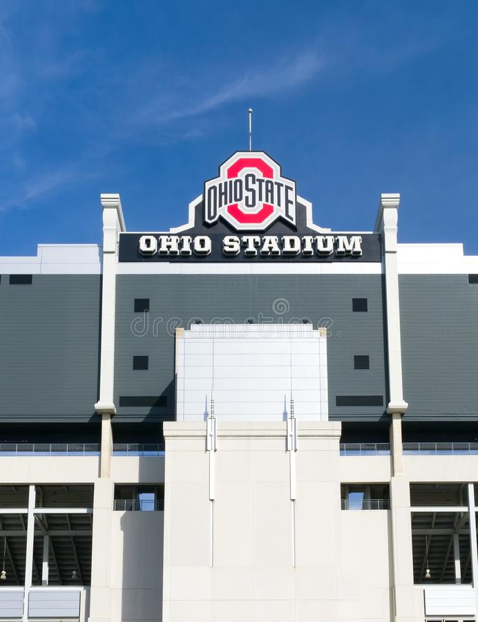 Stade de l'Ohio sur le campus de l'université de l'Etat d'Ohio photos stock