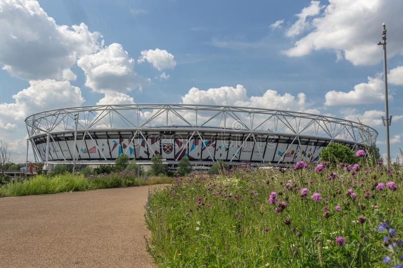 Stade de Londres, le stade de Ham United occidental dans la Reine Elizabeth Olympic Park, images libres de droits