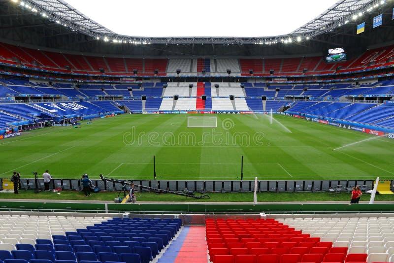 Stade de Lyon Parc Olympique Lyonnais en Lyon, Francia imagenes de archivo