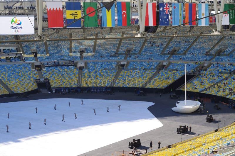 Stade de Maracana dans le Rio de Janeiro photos stock