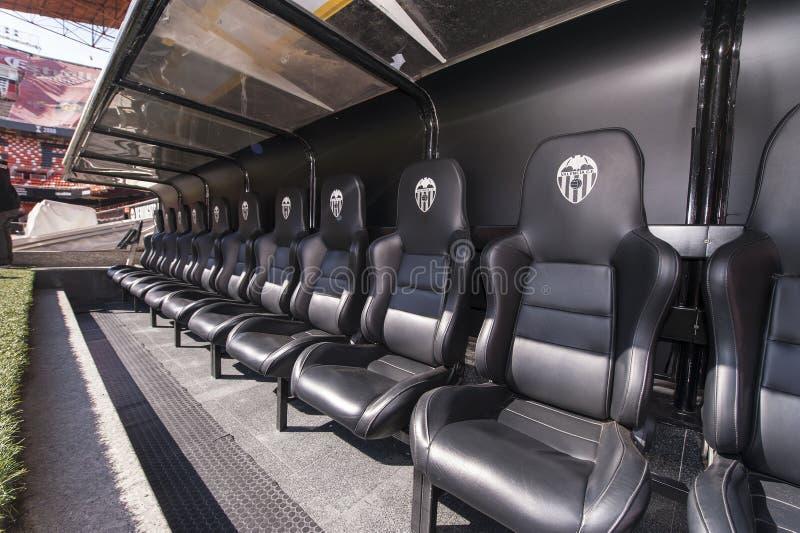 Stade de Mestalla images stock