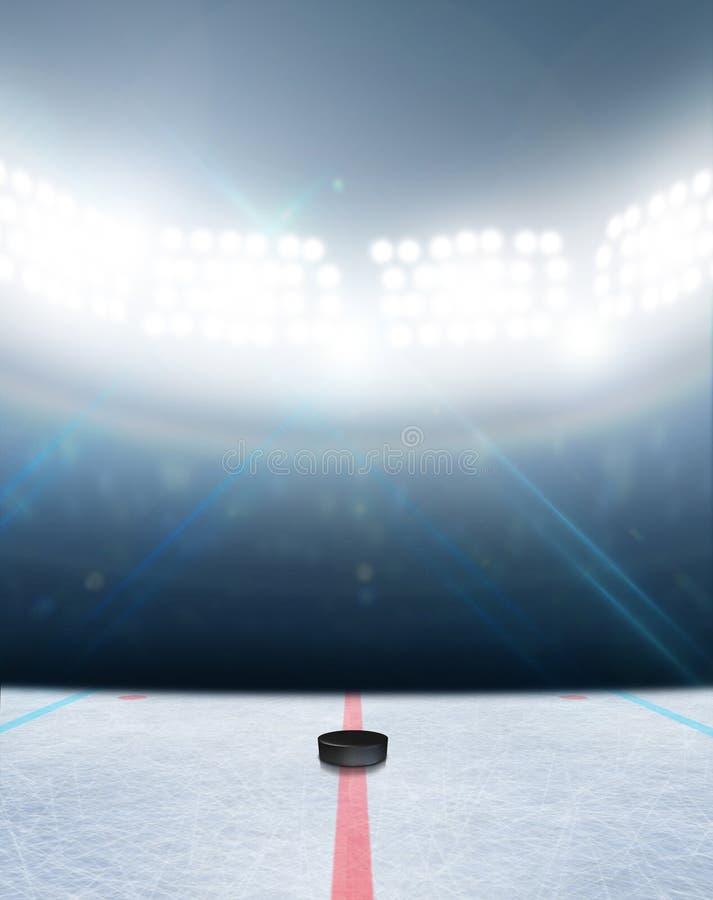 Stade de piste de hockey sur glace images libres de droits