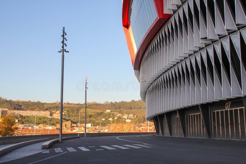 Stade de San Mames, le stade du football sportif c de De Bilbao photos libres de droits