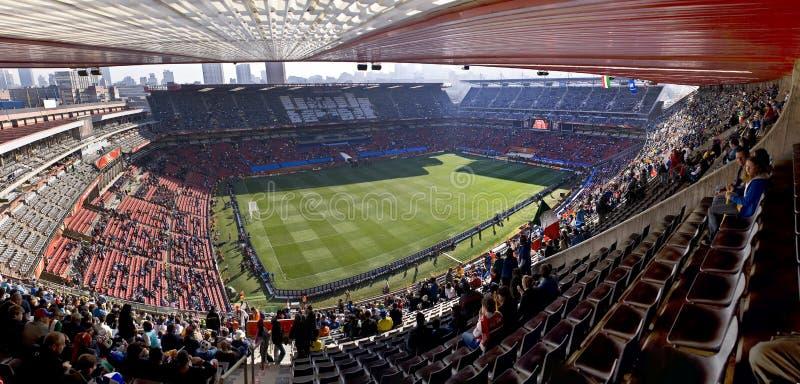 Stade de stationnement d'Ellis panoramique - carte de travail 2010 de la FIFA photos stock