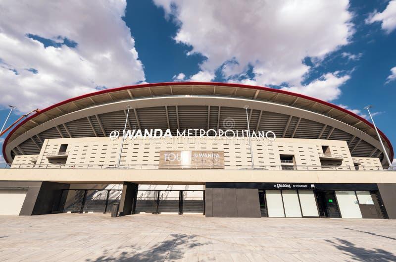 Stade de Wanda Metropolitano à Madrid, Espagne Wanda Metropolitano est le nouveau stade d'Atletico De Madrid, club espagnol du fo photos libres de droits