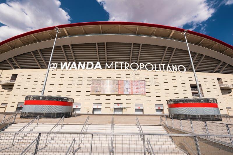 Stade de Wanda Metropolitano à Madrid, Espagne Wanda Metropolitano est le nouveau stade d'Atletico De Madrid, club espagnol du fo photographie stock