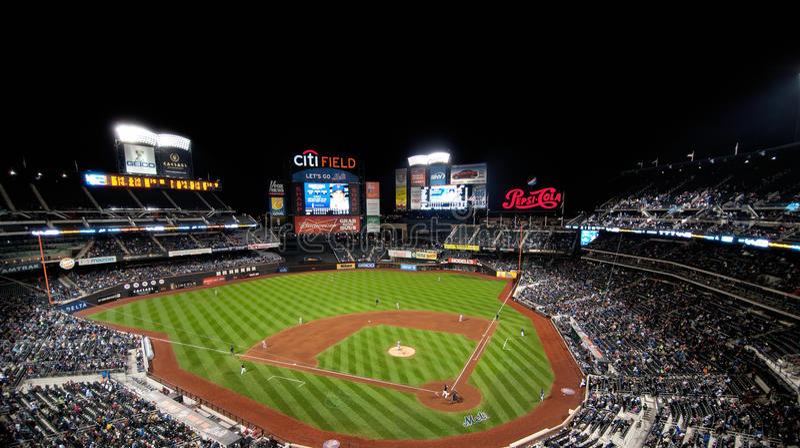 Stade de zone de ville à New York photo stock