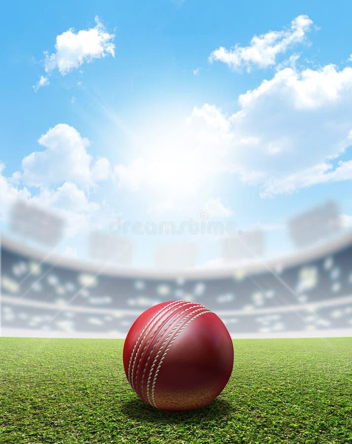 Stade et boule de cricket photos libres de droits