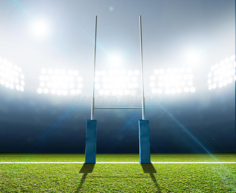 Stade et courriers de rugby photo libre de droits