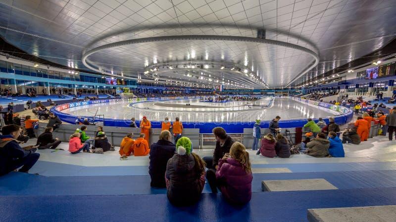 Stade Heerenveen de glace photographie stock libre de droits