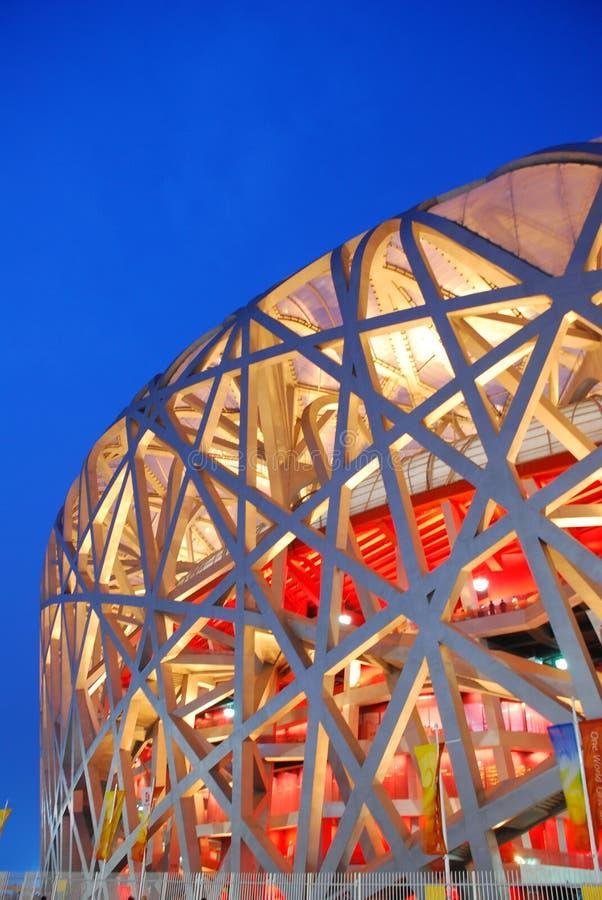 stade national d'emboîtement d'oiseau de Pékin photos libres de droits