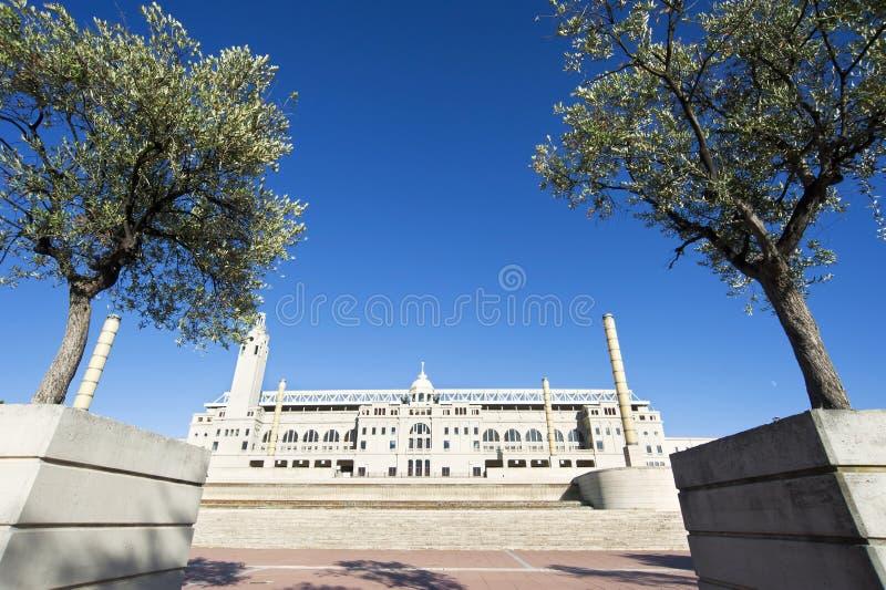 Stade olympique de Barcelone photo libre de droits
