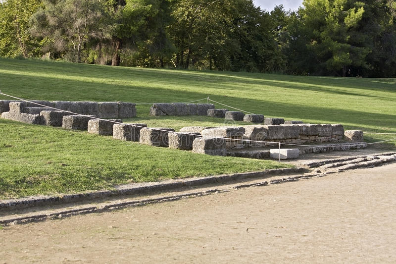 Stade olympique grec classique antique à Olympia photographie stock