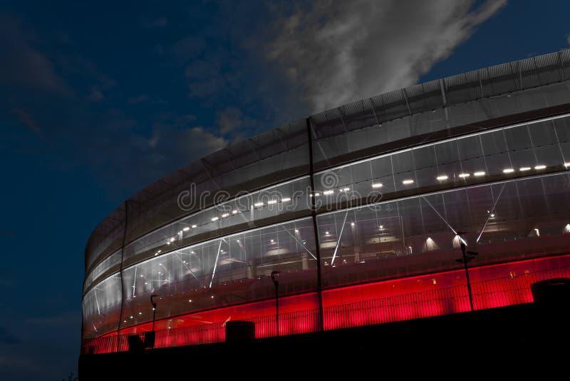 Stade rouge et blanc photo libre de droits
