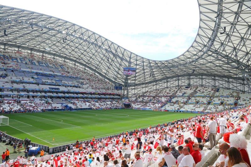 Stade Velodrome in Marseille, Frankreich lizenzfreie stockbilder