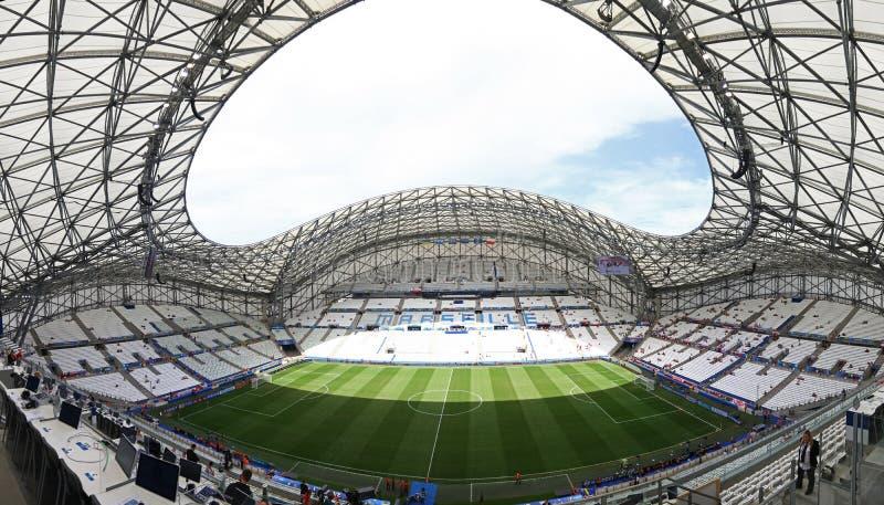 Stade Velodrome in Marseille, Frankrijk stock afbeelding