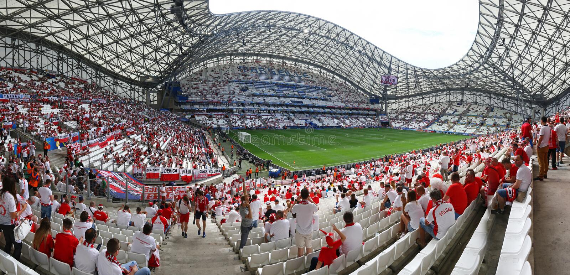 Stade Velodrome in Marseille, Frankrijk royalty-vrije stock afbeeldingen