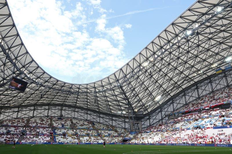 Stade Velodrome in Marseille, Frankrijk stock foto's