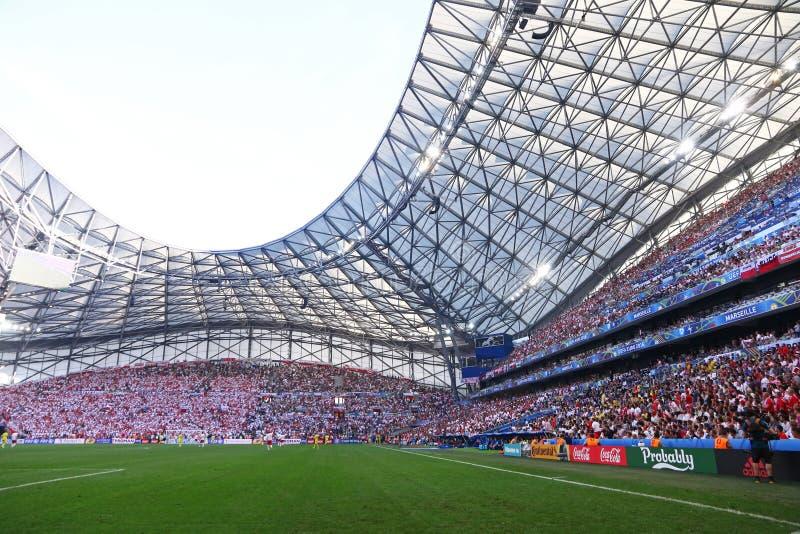 Stade Velodrome in Marseille, Frankrijk royalty-vrije stock fotografie