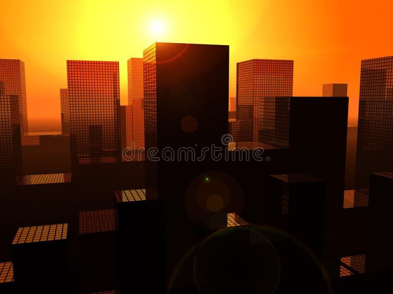 Staden 18 vektor illustrationer
