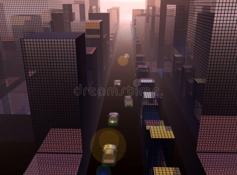 Staden 21 vektor illustrationer
