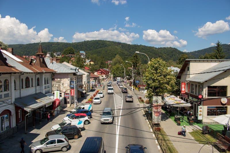 Staden av Busteni, Rumänien royaltyfri foto