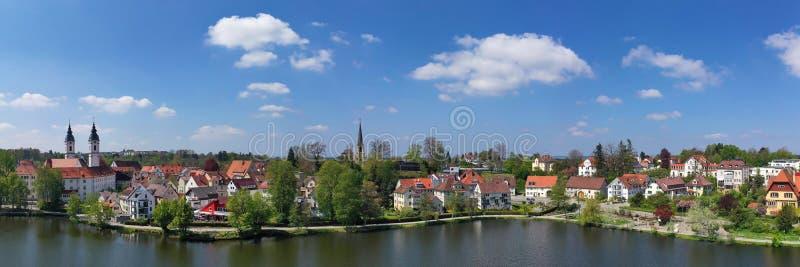 Staden av d?liga Waldsee royaltyfri fotografi