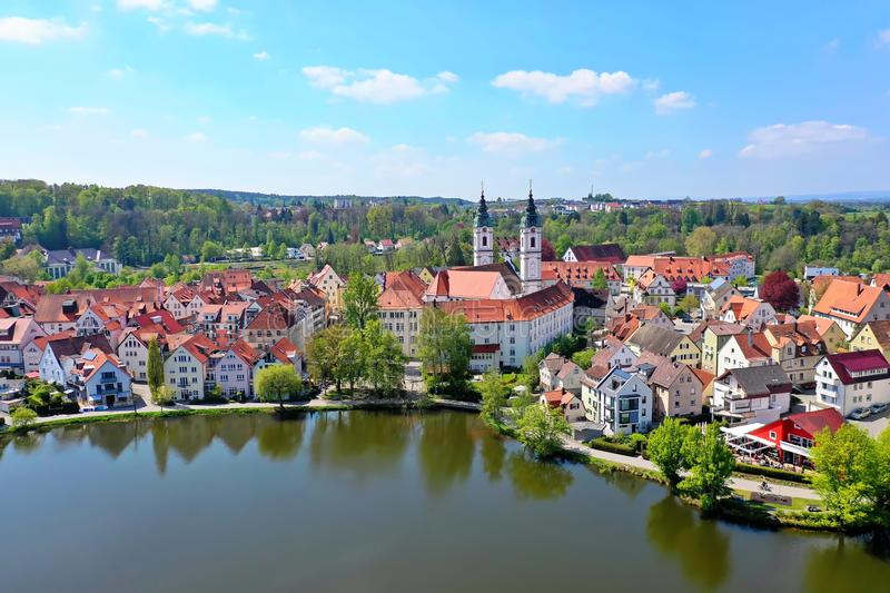 Staden av d?liga Waldsee royaltyfri foto