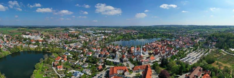 Staden av d?liga Waldsee royaltyfri bild