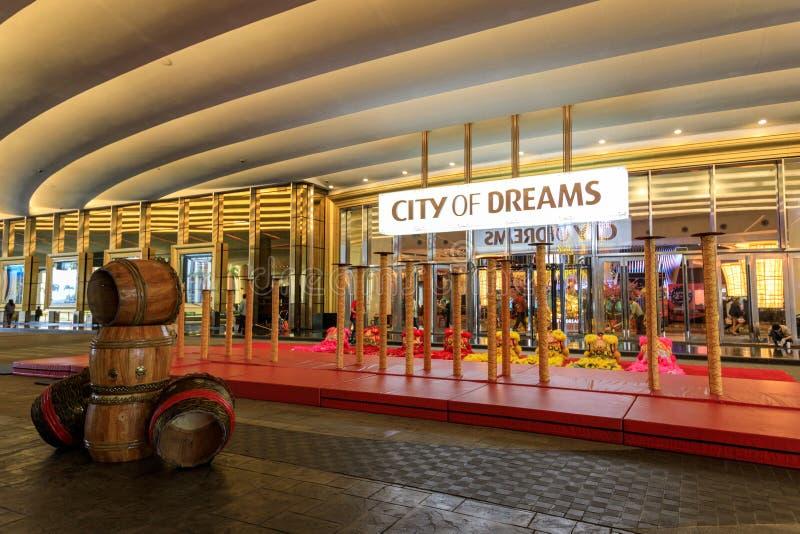 Staden av det drömManila hotellet, kasinot och shoppingkomplexet arkivbilder