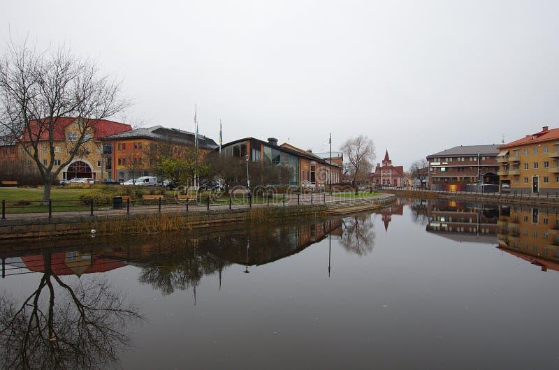 Staden av Falun i Dalarna-05 11 2018 royaltyfri fotografi