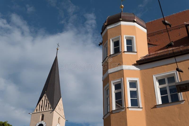 Staden av ingolstadt i Tyskland royaltyfria foton