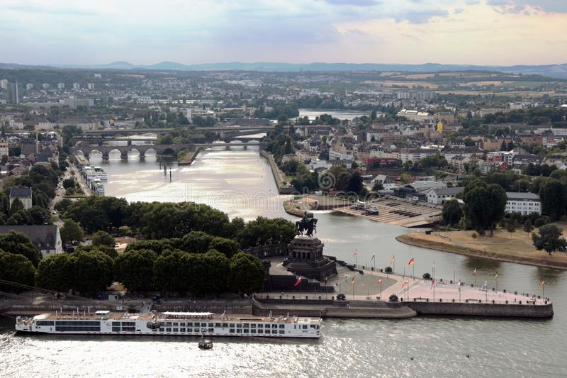 Staden av Koblenz, Tyskland royaltyfri fotografi