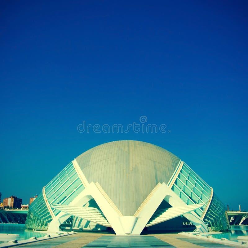 Staden av konster och vetenskaper av Valencia, Spanien arkivfoton