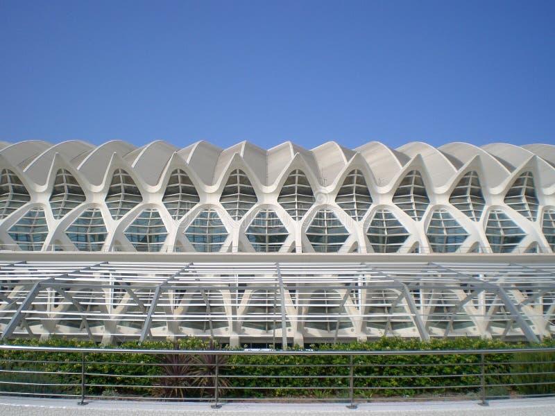 Staden av konster och vetenskaper Valencia Spain royaltyfri fotografi