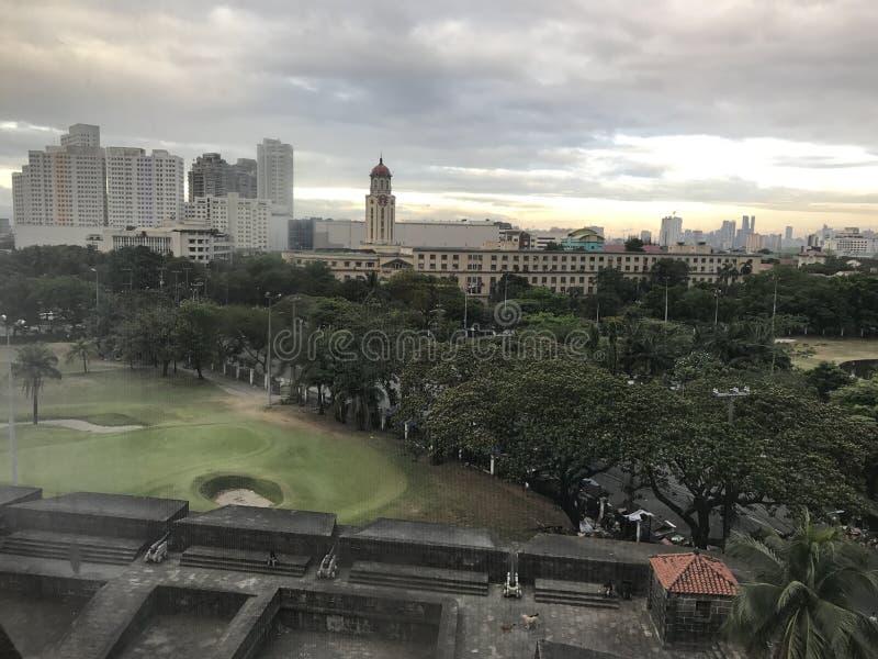 Staden av Manila arkivbild
