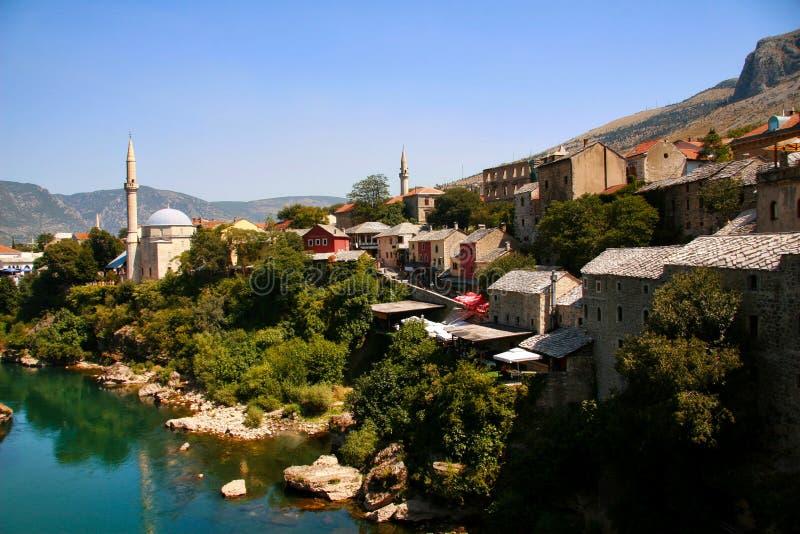 Staden av Mostar arkivfoton