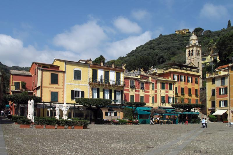 Staden av Portofino, Italien royaltyfria foton