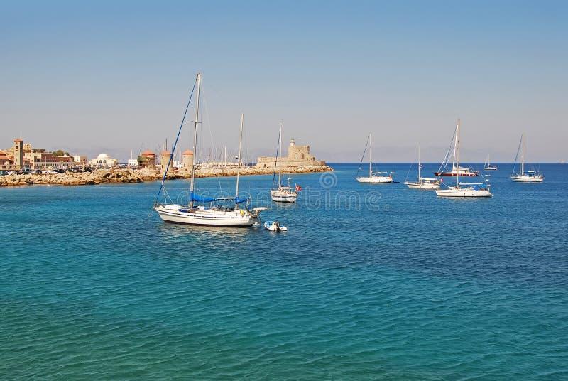 Staden av Rhodes royaltyfri foto