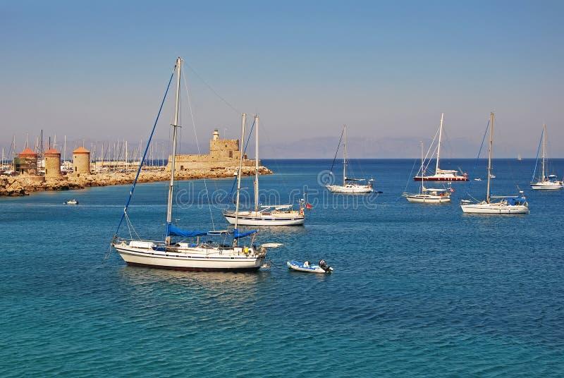Staden av Rhodes fotografering för bildbyråer