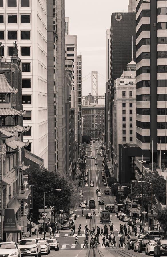 Staden av San Francisco 2018 arkivfoto