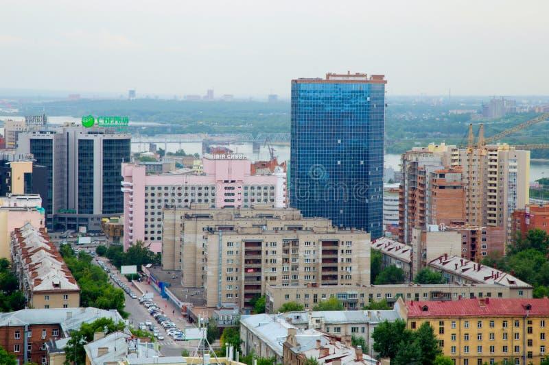 Staden av Sibirien Novosibirsk arkivfoto