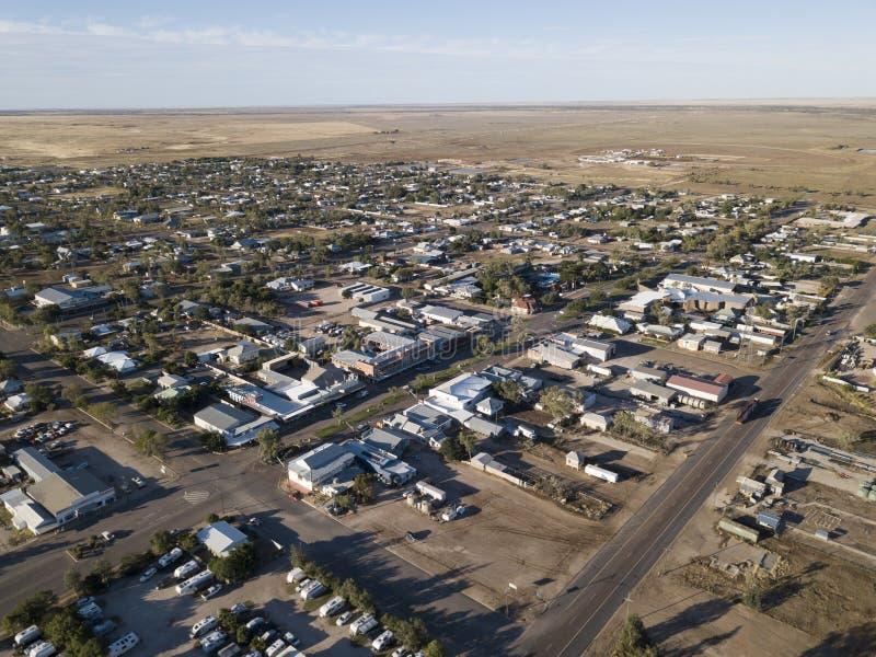 Staden av Winton Queensland arkivbild