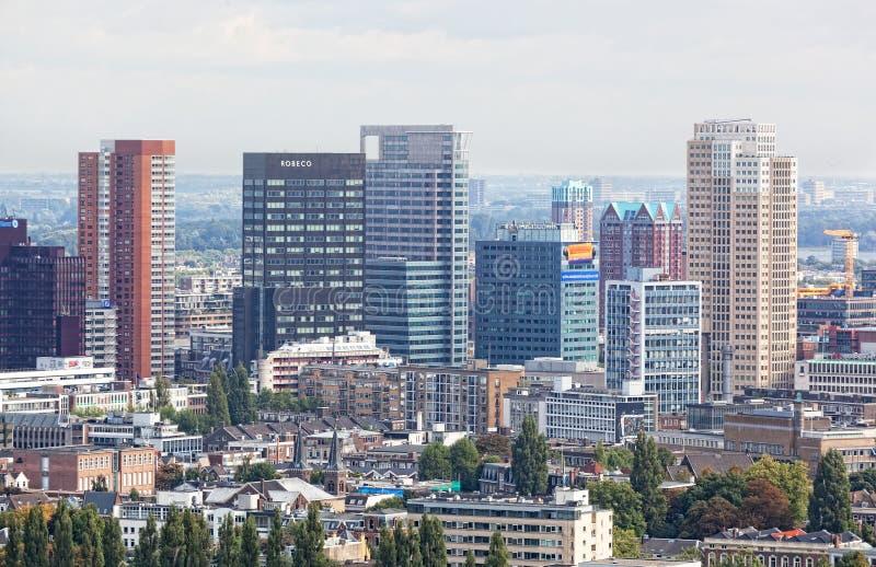 Staden beskådar Rotterdam royaltyfria foton