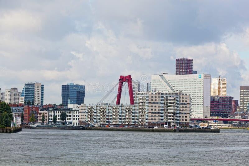 Staden beskådar Rotterdam, Nideranda royaltyfri foto