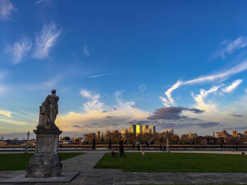 Staden från Greenwich royaltyfria foton