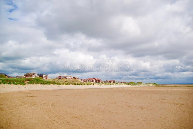 Staden från stranden fotografering för bildbyråer