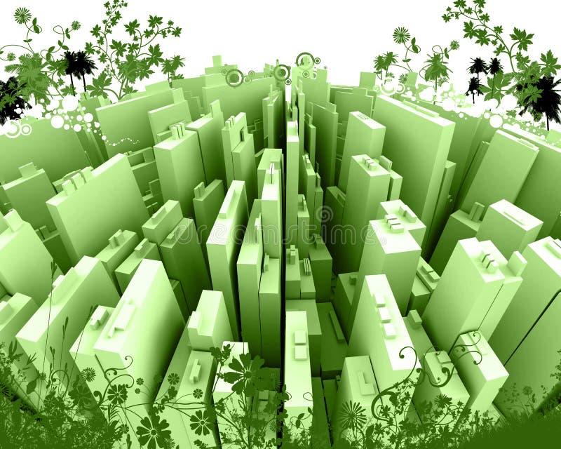 staden framför stilfullt vektor illustrationer