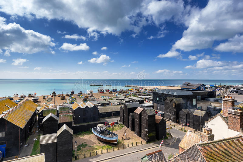 Staden i Hastings royaltyfri bild